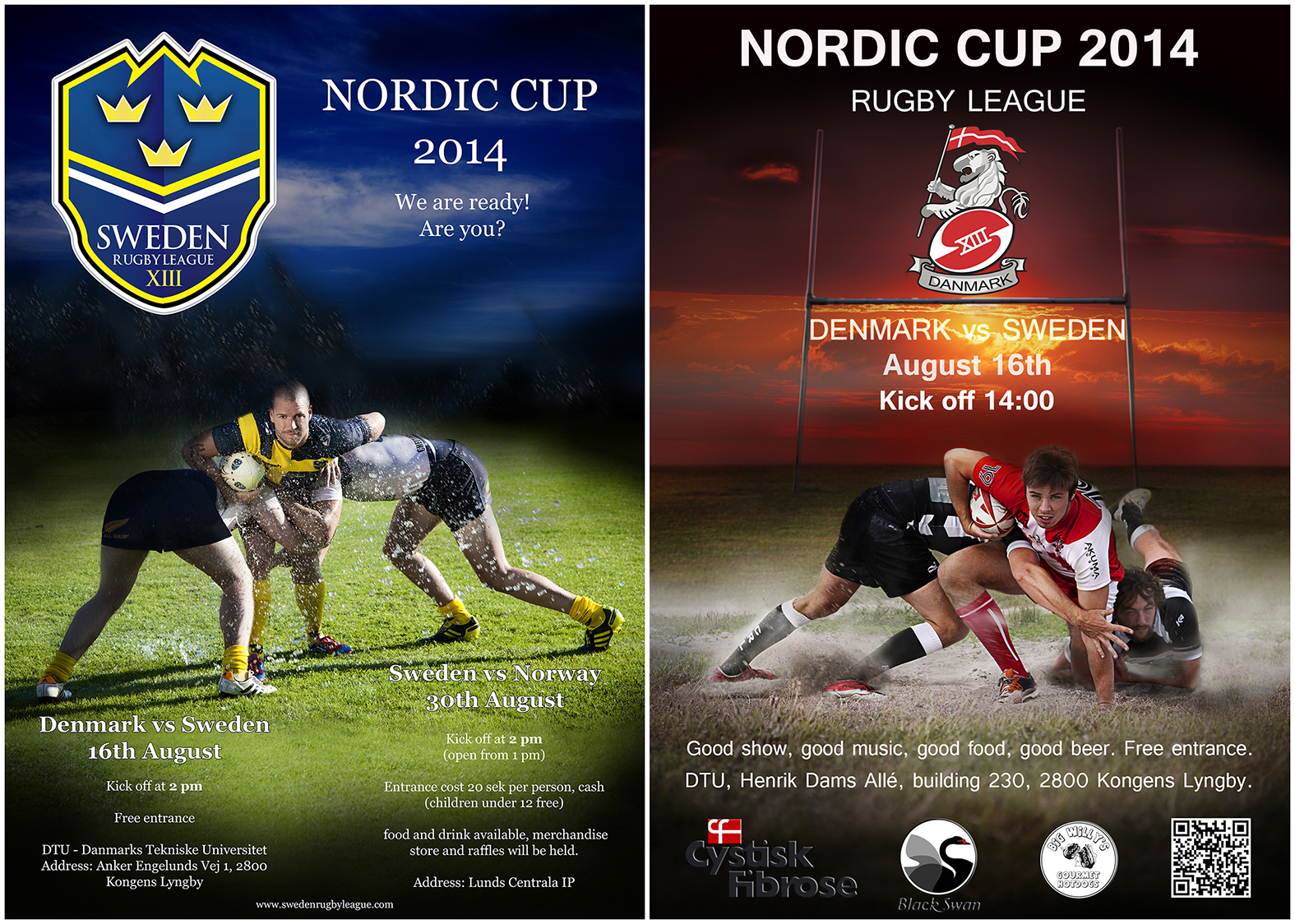 Photographer Emma Ingolf, Danmark Rugby League, Sweden Rugby League,