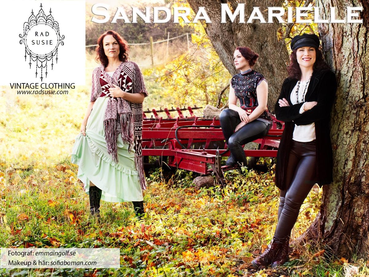 Rad Susie vintage clothing featuring singer Sandra Marielle